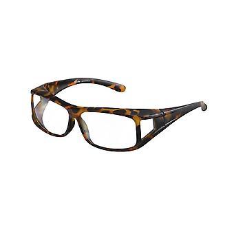 lunettes de transfert brun unisexe avec objectif transparent Vz0001ews