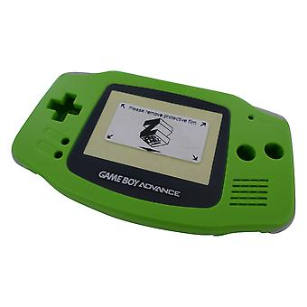 Housing shell for game boy advance nintendo complete mod kit replacement set - lime green | zedlabz