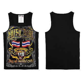 Vest Top Muay Thai Thai Boxing MMA Sport Wear Unisex - (Black)
