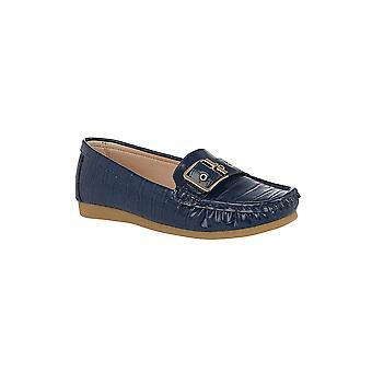 Lotus Cory Slip-On Loafers in Navy