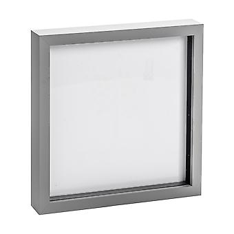 Nicola Spring Photo Frame - Acrylic Box Frame (Glass Cover) - 20x20in - Grey