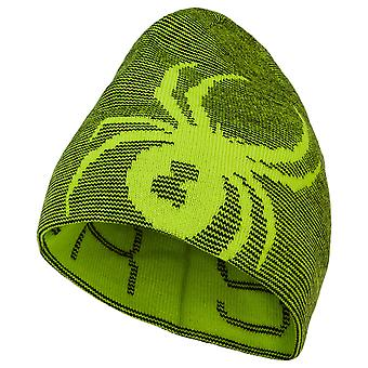 Spyder REVERSIBLE BUG enfants chapeau de ski - sharp lime green