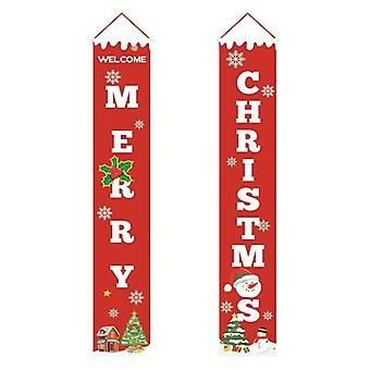 Banner Christmas Porch Fireplace Wall Signs Flag For Decorations Outdoor /