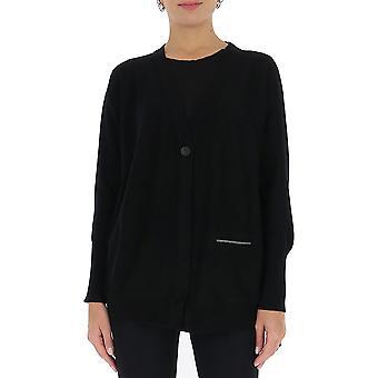 Fabiana Filippi Mad220w040n128825 Women's Black Wool Cardigan