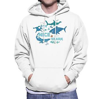 Pixar Finding Nemo I'm A Nice Shark Men's Hooded Sweatshirt