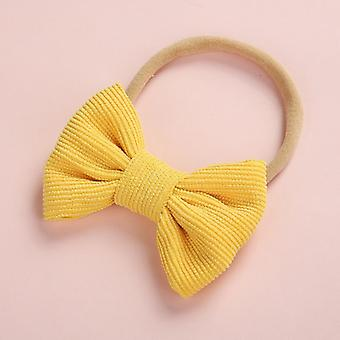 Baby Headband Bow For, Corduroy Thin Nylon Hairband For Newborn
