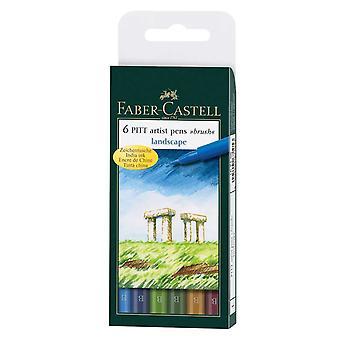 Faber-Castell PITT Taiteilijan sivellinkynät setti 6 (Vaaka)