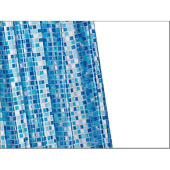 Croydex Mosaic PVC Shower Curtain Blue AE543424
