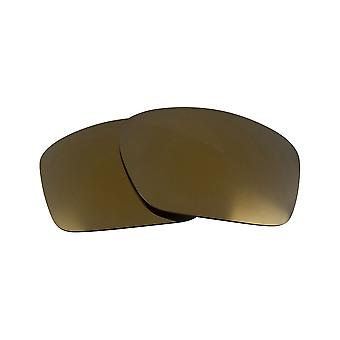 Replacement Lenses for Oakley Scalpel Sunglasses Anti-Scratch Gold Mirror