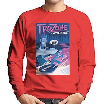 Pixar The Incredibles Frozone Keeping Evil On Ice Men's Collegepaita