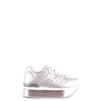 Hogan Ezbc030217 Women's Silver Leather Sneakers