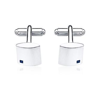 Fred Bennett Men's Jewellery Collection Sterling Silver Blue Sapphire Square Cufflink