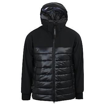 C.p. company men's black quilted shell jacket