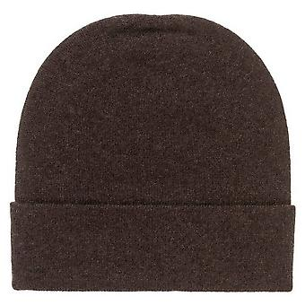 Johnstons of Elgin Double Jersey Hat - Dark Chocolate Brown