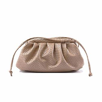 Women Woven Bag, Soft Leather Madame Bag & Single Shoulder Slant Dumpling Bag