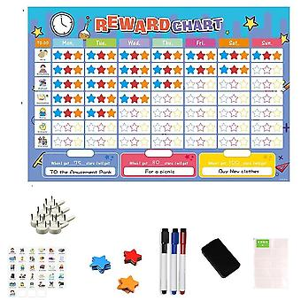 Magnetic Reward Activity Chart & Time Schedule Calendar- Educational