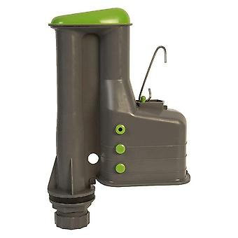 "Croydex Toilet Cistern Syphon 9"" - Adjustable Flush Volume - Complete with Link"