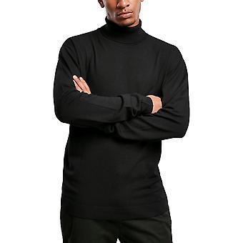 Urbaanit klassikot - Turtleneck Stand-up Collar Sweater musta