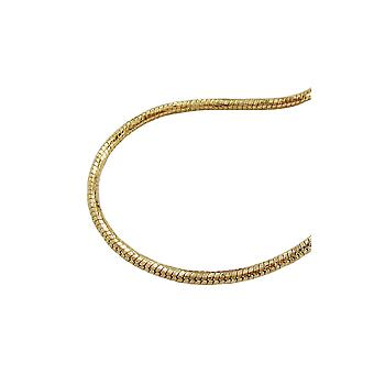 Necklace Round Snake Chain Gold Plated 45cm