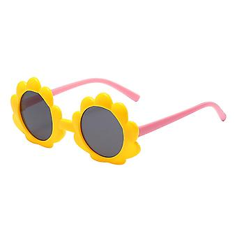 Girls Anti-uv400 Sunglasses/boys Round Sunflowers Sunglasses Frame