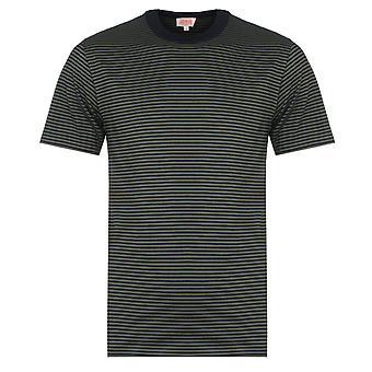 Armor Lux MC Raye Heritage Green & Navy T-Shirt