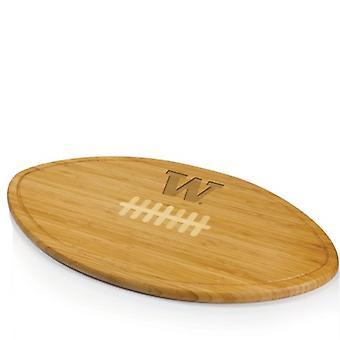 Kickoff - Natural Wood (Universidad de Washington Huskies) Tabla de corte grabada