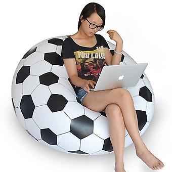 Large Inflatable Sofa Chair Bean Bag/flocking Pvc Garden Lounge Beanbag/