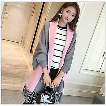Winter Women's Elegant Socialite Cashmere Tassel Cardigan Sweaters, Batwing
