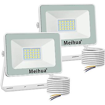 Meihua 25W Led Floodlight IP66 Waterproof 2 Pack Outdoor Security Lights
