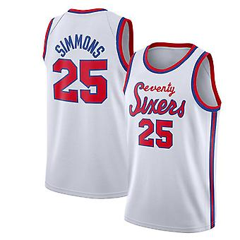 Philadelphia 76ers Simmons Loose Basketball Jersey Sport Shirts 3QY001