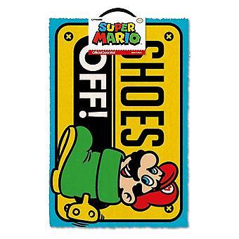 Super Mario kengät pois väri ovi matto