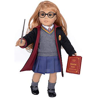 Ebuddy hermione granger- inspired doll clothes shoes for american girl dolls: 10pc hogwarts-uniform