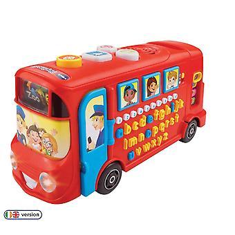 Playset educacional de ônibus de playtime Vtech 150003, aprendendo brinquedo com sons fônicos, letras, vocabulário,