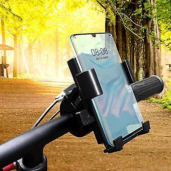 Universele fiets motor stuur achteruitkijkspiegel telefoon houder telefoon mount fiets motorfiets houder voor 5.0-7.2 inch smartphone