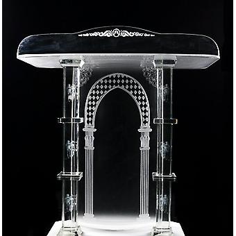 Church-specific Pulpit With Exquisite And Transparent Crystal Columns