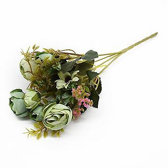 Multicolor Tea Roses Vases For Home Decoration Accessories Fake Daisy Plastic
