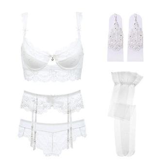 Cottons Underwear Set High Quality Fashion Striped Bra Lingerie Push Up Panty