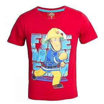 Brandman Sam t-shirt Röd 7 år