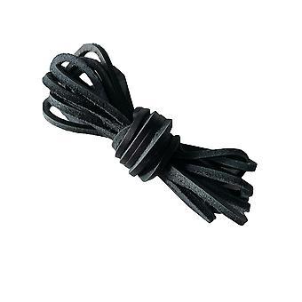 Lacets en cuir noir & lacets de bottes