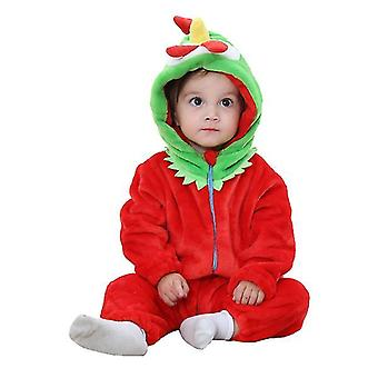 Cute Baby Fleece Footed Jumpsuit,cartoon Romper Jumpsuit