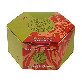 Vine peach, round soap in individual box 150 g