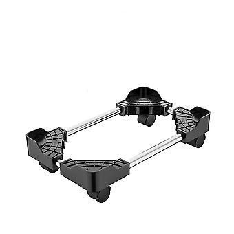 Soporte de torre ajustable- Ordenador, carro de soporte de cpu con ruedas de bloqueo de frenado