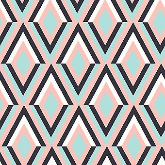Trend Patchwork 4 Alfombra impresa multicolor en poliéster, algodón, L80xP200 cm