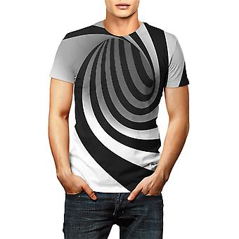 3d Print Tee Shirt Stripe Graphic Short Sleeve Unisex
