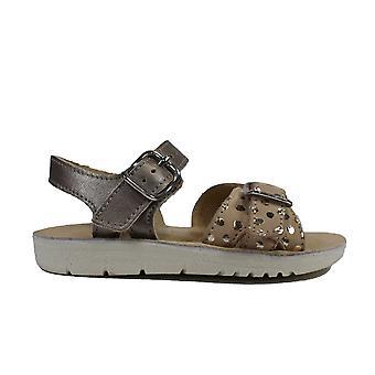 Startrite Förtrolla Guld Metalliskt Läder Flickor Sandaler