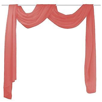 الستار الصليب مصنوعة من voile 140 × 600 سم الأحمر