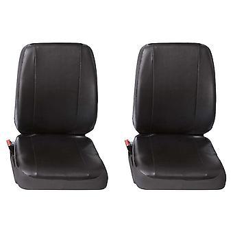 Kaksi yksittäistä kaupallista Leatherette van Seat-suojuksia