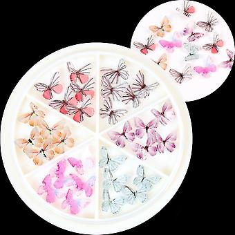 Wheel 3d Colorful Butterfly Charm Nail Art Rhinestones Decoration