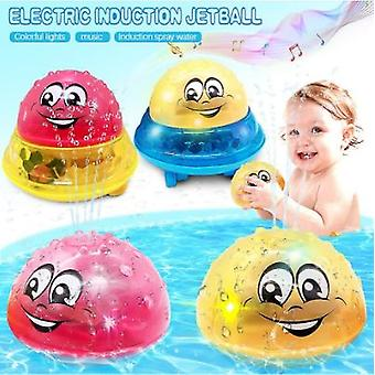 Bath Bathing Toys Baby Electric Induction Sprinkler Ball With Light Music Children Water Spray Play Ball