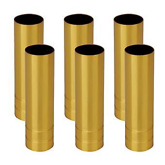 6x Candelabra Base Golden Light Covers for European Pendentif Lamp 10cm H